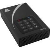 "Apricorn Aegis Padlock DT ADT-3PL256-8000 8 TB 3.5"" External Hard Drive"