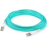 AddOn 0.5m LC (Male) to LC (Male) Aqua OM4 Duplex Fiber OFNR (Riser-Rated) Patch Cable