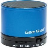Gear Head BT3500BLU Speaker System - Portable - Battery Rechargeable - Wireless Speaker(s) - Blue, Black