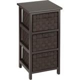 Honey-can-do 3 Drawer Storage Table, Espresso