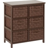 Honey-can-do TBL-03758 Woven Strap 6 Drawer Chest with Wooden Frame