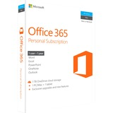 Microsoft Office 365 Personal Subscription + Exclusive Upgrades and New Features - 1 TB OneDrive Cloud Storage, 1 Tablet, 1 PC/Mac, 1 User - 1 Year - Medialess