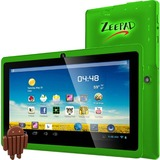 "Zeepad 7DRK-Q 4 GB Tablet - 7"" 5:3 Multi-touch Screen - 800 x 480 - Allwinner Cortex A7 A33 Quad-core (4 Core) 1.80 GHz - 512 MB DDR3 SDRAM - Android 4.4 KitKat - Green"