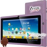 """Zeepad 7DRK-Q Tablet - 7"""" - 512 MB DDR3 SDRAM - Allwinner Cortex A7 A33 Quad-core (4 Core) 1.80 GHz - 4 GB - Android 4.4 KitKat - 800 x 480 - Purple"""