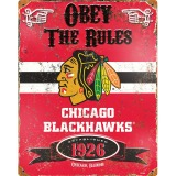 Party Animal Chicago Blackhawks Embossed Metal Sign