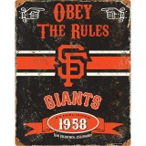 Party Animal San Francisco Giants Embossed Metal Sign