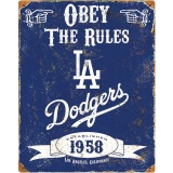 Party Animal Los Angeles Dodgers Embossed Metal Signs