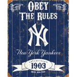 Party Animal New York Yankees Embossed Metal Sign