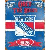 Party Animal New York Rangers Embossed Metal Sign