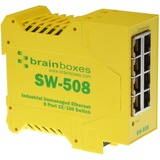 Brainboxes Industrial Ethernet 8 Port Switch DIN Rail Mountable