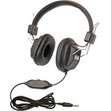Califone 1534BK Kids Over-Ear Stereo Headphones with Inline Volume Control, 3.5mm Plug, Black, Each