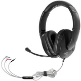 Hamilton Buhl Trios Multimedia Headset w/ Steel Reinforced Flexible Mic, Black
