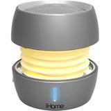 iHome iBT73 Speaker System - Portable - Battery Rechargeable - Wireless Speaker(s) - Silver