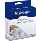 Verbatim CD/DVD Paper Sleeves with Clear Window