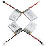 AKASO 4PK 3.7V 500MAH LIPO BATT W/ 4IN1 CHARGER FOR AKASO X5C