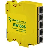 Brainboxes Industrial Compact Ethernet 5 Port Switch DIN Rail Mountable