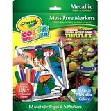 Crayola Color Wonder Metallic Paper and Markers, Teenage Mutant Ninja Turtles