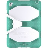 """Griffin Survivor All-Terrain Carrying Case for 9.7"""" iPad Air 2, iPad Pro - Mint, White"""