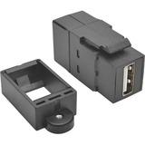Tripp Lite USB 2.0 Keystone Panel Mount Coupler All-in-One F/F USB-A Black