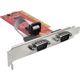 Tripp Lite 2-Port DB9 RS232 PCI Serial Adapter Card Full Profile 16550 UART