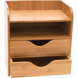Lipper Bamboo Desk Organizer, 4-Tier