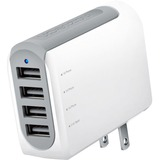 Naztech N260 Quad USB Travel Charger 4.8A White