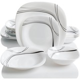 Oster Falan 16 Piece Double Bowl Dinnerware Set - Chip Resistant