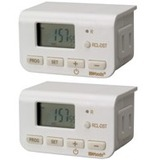 Woods 50007 Indoor Digital Daily Lamp Timer, Slim Fit, Simple Set, 2-Pack, White