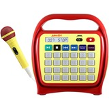 Hamilton Buhl Juke24 Portable Digital Jukebox with CD Player & Karaoke, Red/Yellow