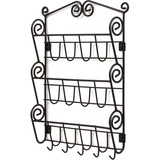 Spectrum Scroll Wall Mount 3-Tier Letter Holder & Key Rack