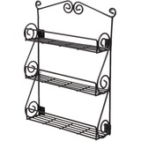 Spectrum Scroll Wall Mount 3-Tier Spice Rack