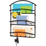 Spectrum Euro Wall Mount 3-Tier Letter Holder & Key Rack