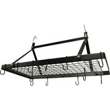 Range Kleen CW6013 Rectangle Hanging Pot Rack - Black Enamel