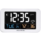 AcuRite Intelli-Time Clock with Indoor Temperature and USB Charger