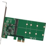 IO Crest 2 Port M.2 to PCI-e x1 Adapter B or B+M Key