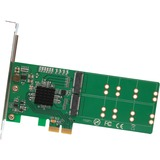 IO Crest 4 Port M.2 to PCI-e x2 B or B+M Key Adapter Card