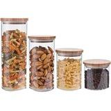 Honey-can-do KCH-06527 | 4-piece Storage Jar Set