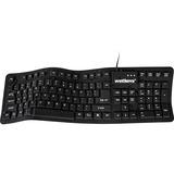"Wetkeys Waterproof ""Soft-touch Comfort"" Professional-Grade Keyboard (USB)(Black)"