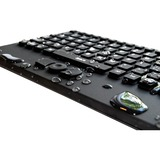 Wetkeys Waterproof Heavy-duty Full-Size Keyboard with Track-pointer (USB)(Black)