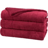 Sunbeam Channeled Microplush Heated Blanket
