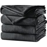 Sunbeam Full Velvet Plush Heated Blanket, Slate