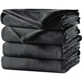 Sunbeam Queen Velvet Plush Heated Blanket, Slate