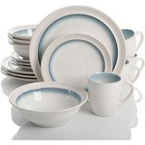 Gibson Elite Lawson 16 Piece Dinnerware Set, Teal