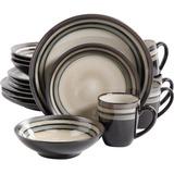 Gibson Elite Lewisville 16 Piece Dinnerware Set, Gray