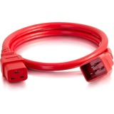 C2G 6ft 12AWG Power Cord (IEC320C20 to IEC320C19) -Red