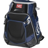 Rawlings Velo Carrying Case (Backpack) for Notebook, Tablet, Baseball Bat - Navy