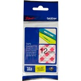 Brother PTouch Black on Red Gingham Tape 12mm x