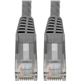 """Tripp Lite Cat6 GbE Snagless Molded Patch Cable UTP Gray RJ45 M/M 6in 6"""""""