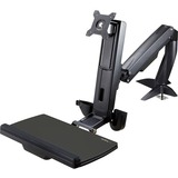 Desk mount sit-stand monitor arm supports single VESA display up to 34in (17.6lb)