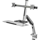 Ergonomic Standing Desk Converter With Height Adjustable Keyboard & Counterbalance Monitor Mount